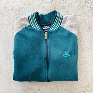 🦚 VINTAGE NIKE Bomber Zippered Sweatshirt size M
